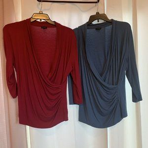 TALBOTS blouse top LOT FOR 2 PIECES Size L A43